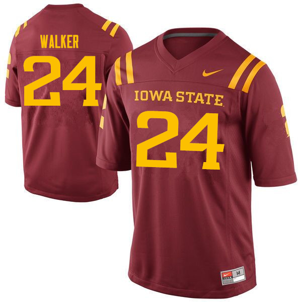 Men #24 Amechie Walker Iowa State Cyclones College Football Jerseys Sale-Cardinal