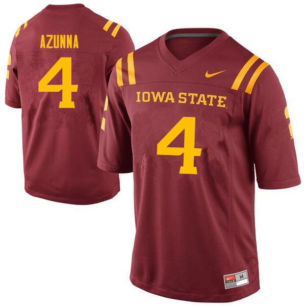 Men #4 Arnold Azunna Iowa State Cyclones College Football Jerseys Sale-Cardinal