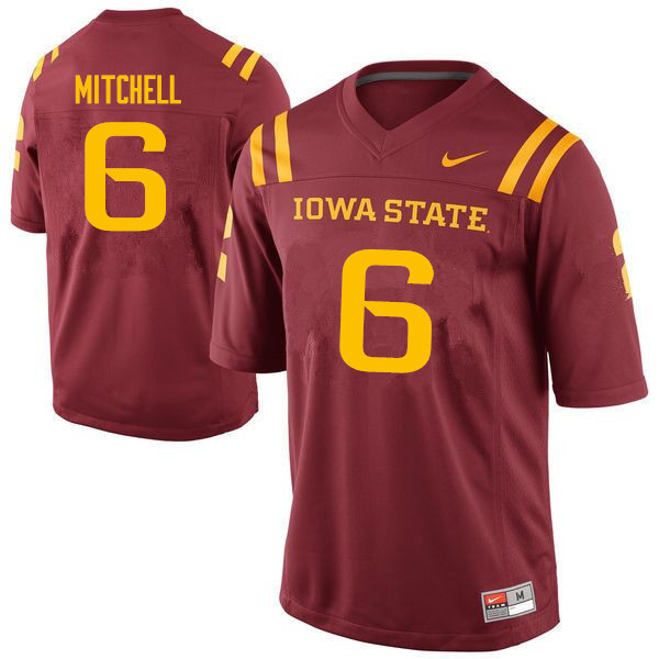 Men #6 Re-al Mitchell Iowa State Cyclones College Football Jerseys Sale-Cardinal