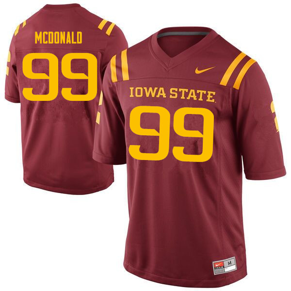 Men #99 Will McDonald Iowa State Cyclones College Football Jerseys Sale-Cardinal