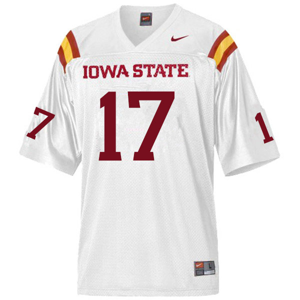 Men #17 Darren Wilson Iowa State Cyclones College Football Jerseys Sale-White