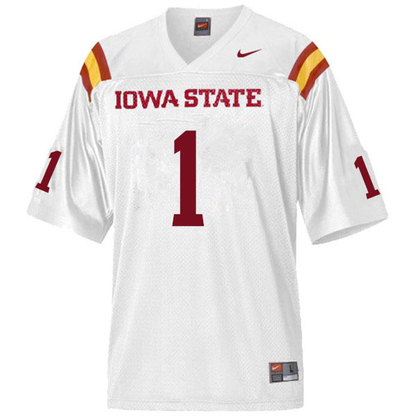 Men #1 Datrone Young Iowa State Cyclones College Football Jerseys Sale-White