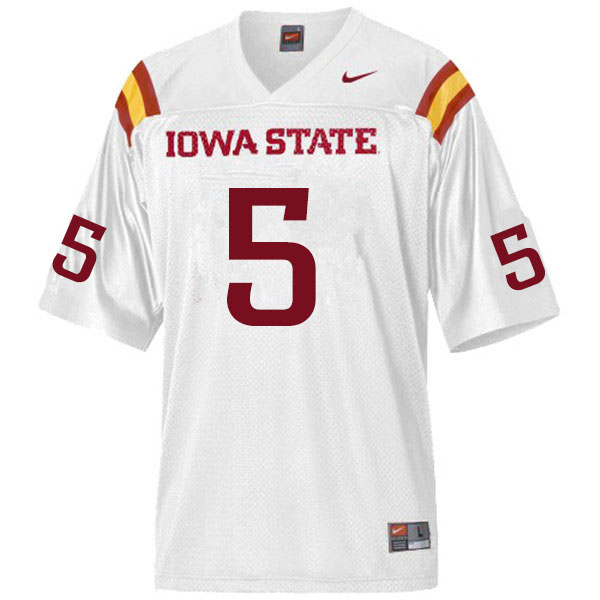 Men #5 Eyioma Uwazurike Iowa State Cyclones College Football Jerseys Sale-White
