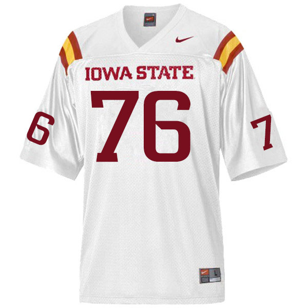Men #76 Joey Ramos Iowa State Cyclones College Football Jerseys Sale-White