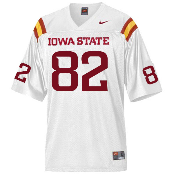 Men #82 Landen Akers Iowa State Cyclones College Football Jerseys Sale-White