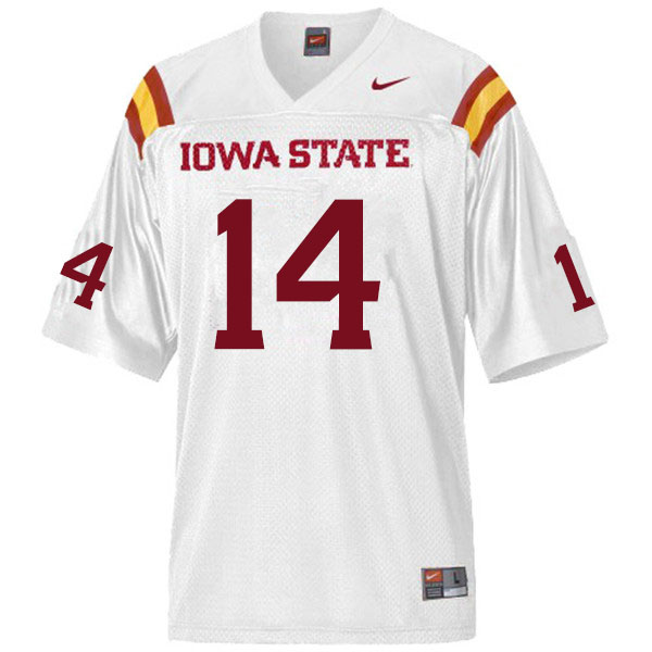 Men #14 Tory Spears Iowa State Cyclones College Football Jerseys Sale-White
