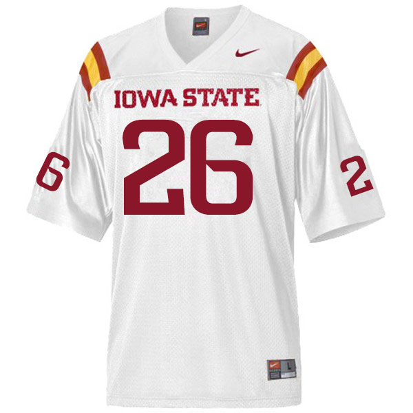 Men #26 Anthony Johnson Jr. Iowa State Cyclones College Football Jerseys Sale-White