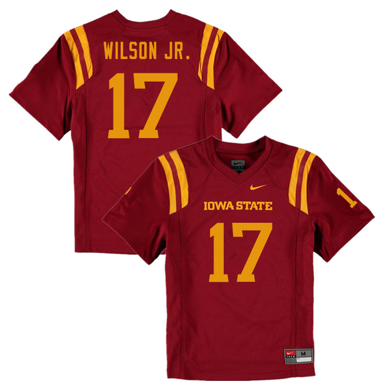 Men #17 Darren Wilson Jr. Iowa State Cyclones College Football Jerseys Sale-Cardinal