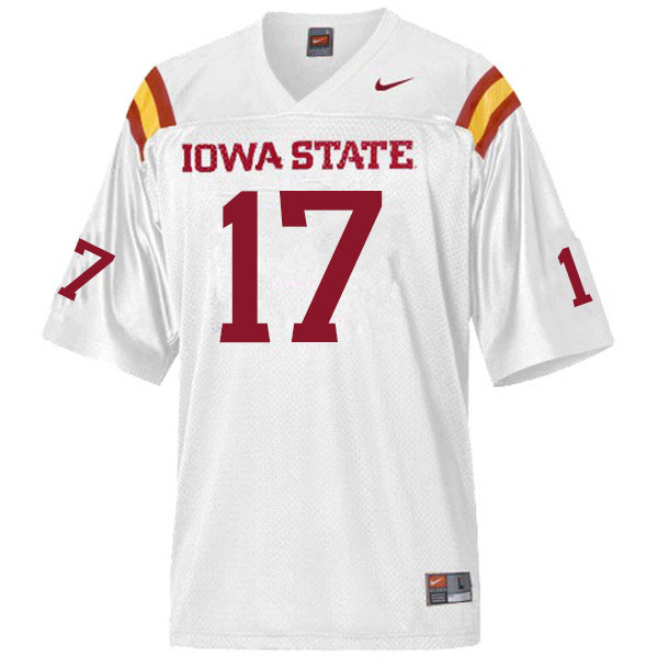 Men #17 Darren Wilson Jr. Iowa State Cyclones College Football Jerseys Sale-White