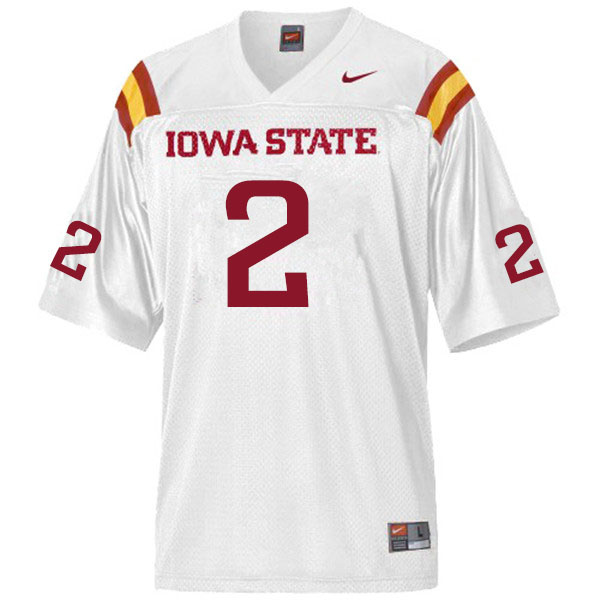 Men #2 Datrone Young Iowa State Cyclones College Football Jerseys Sale-White