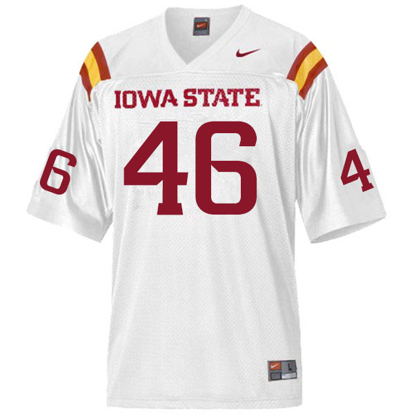 Men #46 Andrew Ernstmeyer Iowa State Cyclones College Football Jerseys Sale-White
