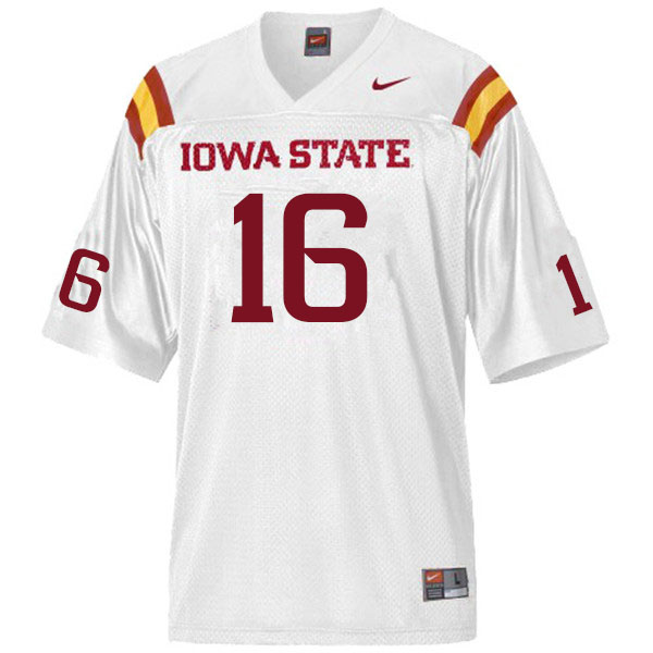 Men #16 Answer Gaye Iowa State Cyclones College Football Jerseys Sale-White