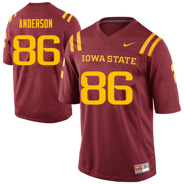 Men #86 Cole Anderson Iowa State Cyclones College Football Jerseys Sale-Cardinal