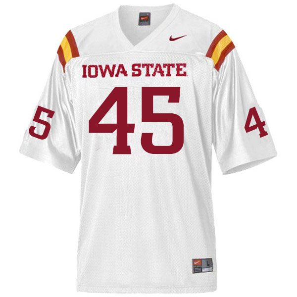 Men #45 Corey Suttle Iowa State Cyclones College Football Jerseys Sale-White