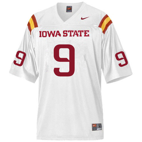 Men #9 Joe Scates Iowa State Cyclones College Football Jerseys Sale-White