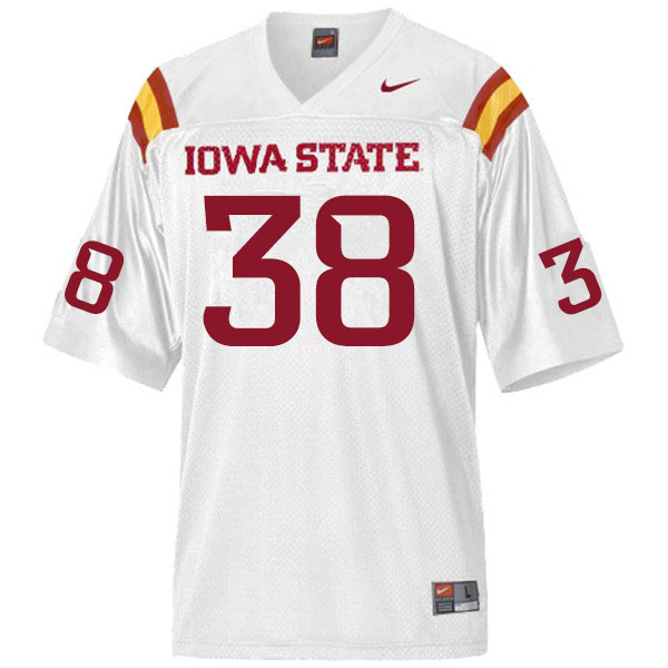 Men #38 Levi Hummel Iowa State Cyclones College Football Jerseys Sale-White