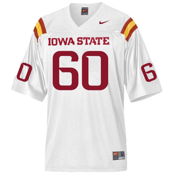 Men #60 Owen Terwilliger Iowa State Cyclones College Football Jerseys Sale-White
