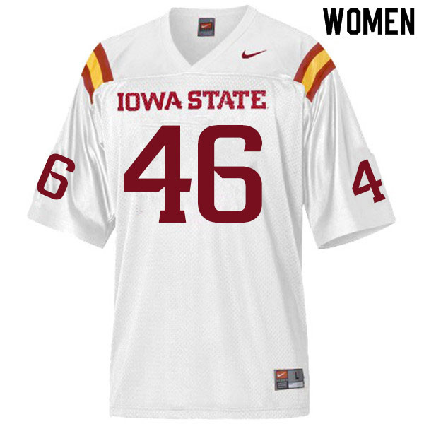 Women #46 Answer Gaye Iowa State Cyclones College Football Jerseys Sale-White