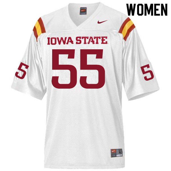 Women #55 Darrell Simmons Jr. Iowa State Cyclones College Football Jerseys Sale-White
