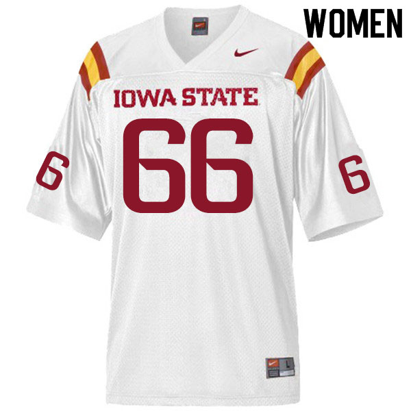 Women #66 Tyler Miller Iowa State Cyclones College Football Jerseys Sale-White