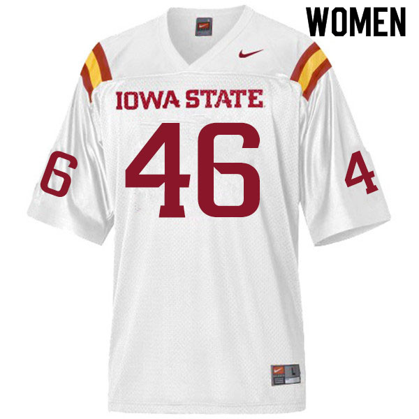 Women #46 Andrew Ernstmeyer Iowa State Cyclones College Football Jerseys Sale-White