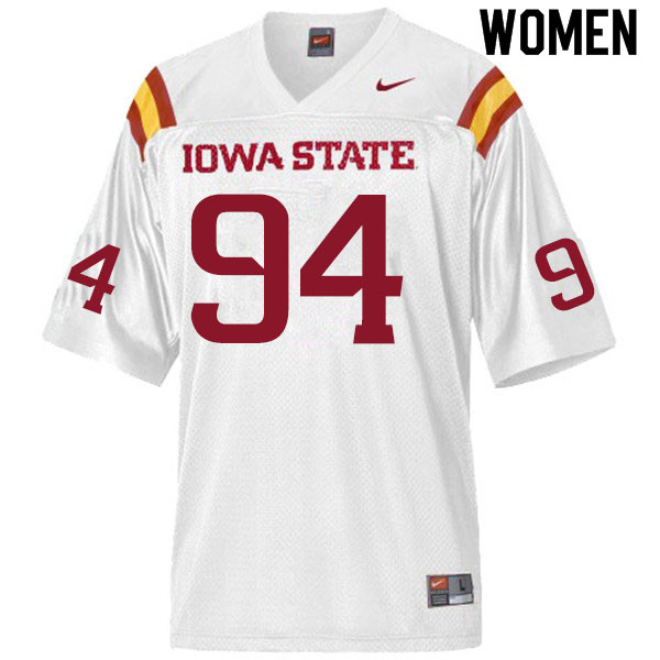 Women #94 Kyle Krezek Iowa State Cyclones College Football Jerseys Sale-White