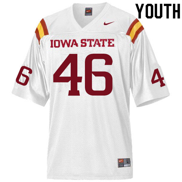 Youth #46 Answer Gaye Iowa State Cyclones College Football Jerseys Sale-White