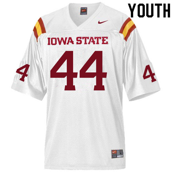 Youth #44 Gage Gunnerson Iowa State Cyclones College Football Jerseys Sale-White