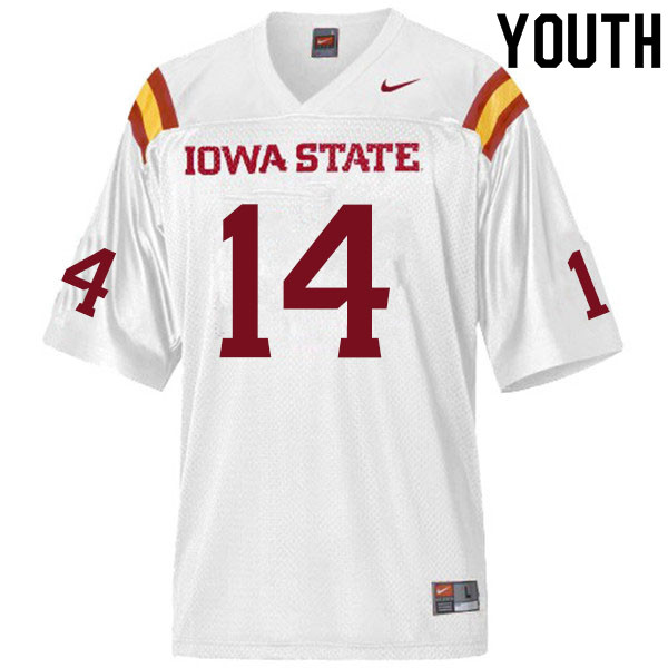 Youth #14 Tory Spears Iowa State Cyclones College Football Jerseys Sale-White