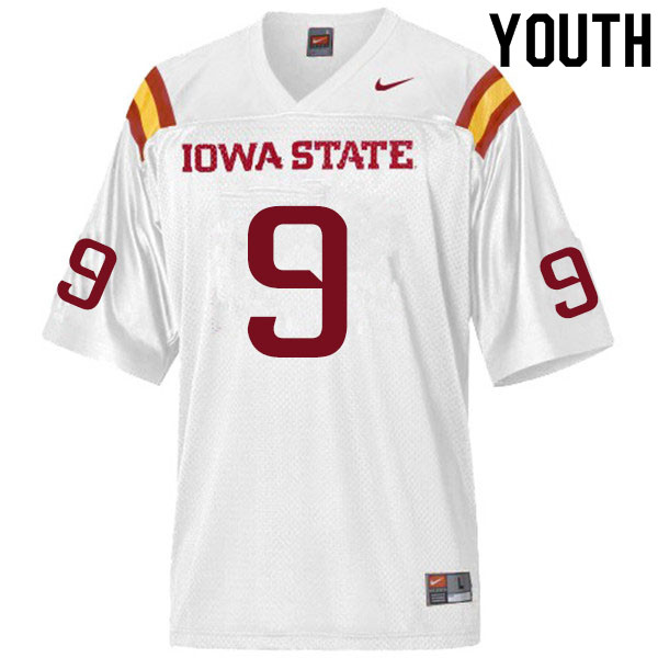 Youth #9 Will McDonald Iowa State Cyclones College Football Jerseys Sale-White