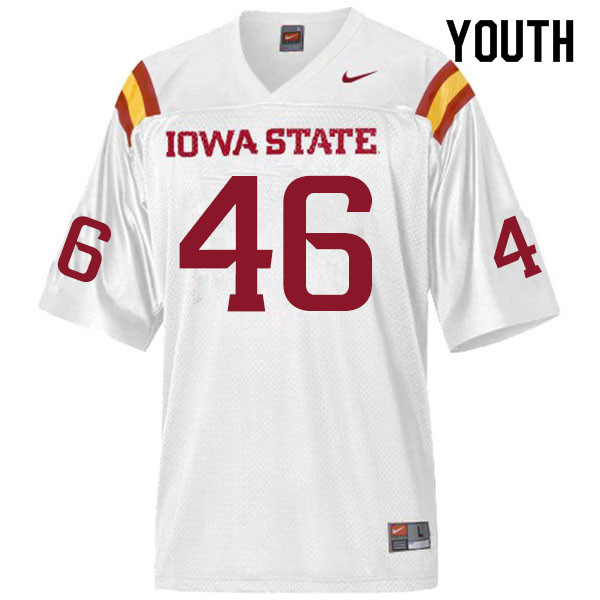 Youth #46 Andrew Ernstmeyer Iowa State Cyclones College Football Jerseys Sale-White
