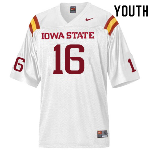 Youth #16 Answer Gaye Iowa State Cyclones College Football Jerseys Sale-White