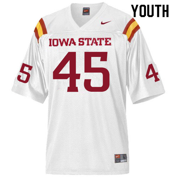 Youth #45 Corey Suttle Iowa State Cyclones College Football Jerseys Sale-White