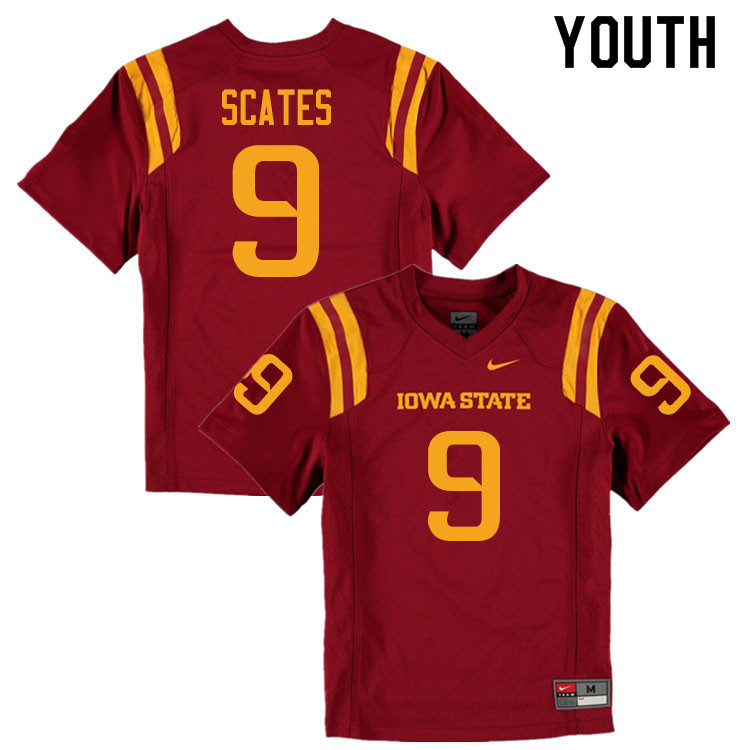 Youth #9 Joe Scates Iowa State Cyclones College Football Jerseys Sale-Cardinal
